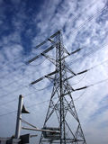 Excel 124. This is a pylon by the excel centre London's docklands Royalty Free Stock Images