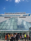 Excel centre. Excel london exhibition centre city river thames royalty free stock photography
