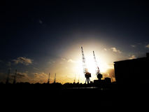 Excel Cranes Royalty Free Stock Photo