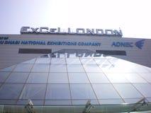 Excel i London den största utställningmitten Arkivfoton