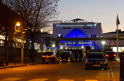 Excel London. Excel exhibition center in London royalty free stock photography