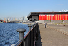 Excel london building docklands. Photo of modern excel building located in docklands london.photo taken 24th august 2014 and ideal for exhibition centres royalty free stock images