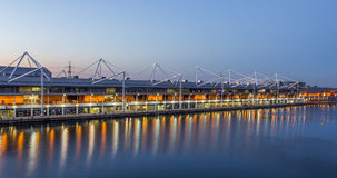 Excel london. The Excel Centre, venue for sport and exhibitions, Royal Victoria Dock, London royalty free stock photography