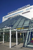 Excel London. The Excel London exhibition Centre in the City of London Royalty Free Stock Photo