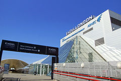Excel London. The London Excel exhibition Centre in the City of London stock photo