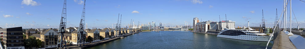 Excel Marina 180 degree panoramic royalty free stock photos