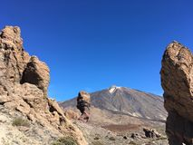 View from vulcano Teide in Tenerife, Spain royalty free stock images