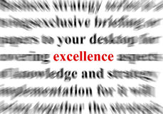 Excellence. A conceptual image representing a focus on the word excellence vector illustration