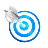 Excellence abstract concept with darts shield and arrow Royalty Free Stock Photos