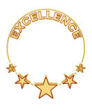 Excellence award with five stars Royalty Free Stock Photo