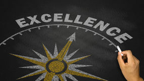 Excellence concept. Business excellence concept on blackboard royalty free stock photos