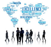 Excellence Expertise Perfection Global Growth Concept Stock Images
