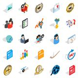 Excellence icons set, isometric style. Excellence icons set. Isometric set of 25 excellence vector icons for web isolated on white background Royalty Free Stock Images