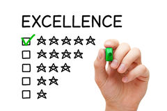 Excellence Rating Concept Stock Images