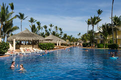 Excellence Resort Pool. Excellence Resort Punta Cana pool royalty free stock photography