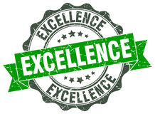 Excellence stamp. Excellence green stamp. sign. seal royalty free illustration