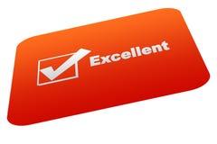Excellent. Card achievement card logo vector illustration