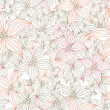 Excellent abstract background with flowers. Vector illustration Stock Images