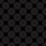 Excellent abstract black flower pattern. Royalty Free Stock Images