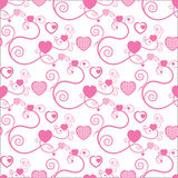 Excellent Background With Hearts Stock Image