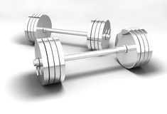 Excellent barbell Royalty Free Stock Photo