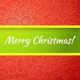 Excellent bright merry christmas greeting card. Royalty Free Stock Photos