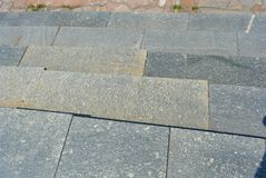 Granite and gray steps royalty free stock image