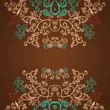 Excellent brown floral pattern design background Royalty Free Stock Image