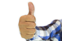 Excellent. Businessman hand making a great show of it Royalty Free Stock Image