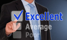 Businessman touching a screen Royalty Free Stock Photography
