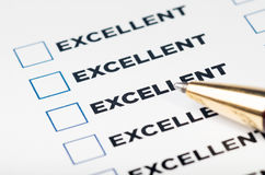 Excellent checklist Stock Images