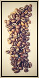 Excellent cofee beans. With black frame royalty free stock photos