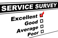 Excellent Customer Service Survey royalty free stock photography