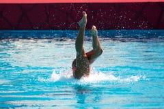 Synchronized swim stock photos