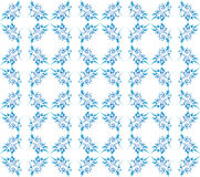Excellent floral seamless blue ornate background Royalty Free Stock Photography