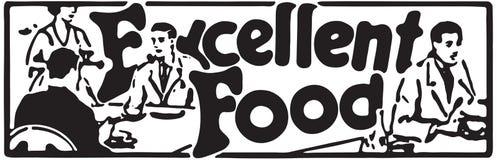 Excellent Food 2. Retro Ad Art Banner vector illustration