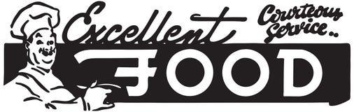 Excellent Food 4. Retro Ad Art Banner royalty free illustration