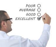 Excellent, Good, Average, Poor Stock Photo