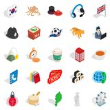 Excellent health icons set, isometric style. Excellent health icons set. Isometric set of 25 excellent health vector icons for web isolated on white background Stock Photo