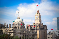 Excellent historical buildings in the bund Stock Photos