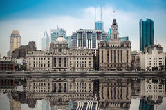 Excellent historical buildings in shanghai bund Stock Photo