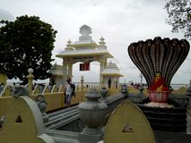 Excellent histry of the lord buddha in sri lanka. This is `Naagadeepa Viharaya` in sri Lanka.what a beautiful temple.The lord buddha was come in to Naagadeepaya Stock Image
