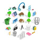 Excellent house icons set, isometric style. Excellent house icons set. Isometric set of 25 excellent house vector icons for web isolated on white background royalty free illustration