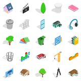 Excellent house icons set, isometric style. Excellent house icons set. Isometric set of 25 excellent house vector icons for web  on white background Royalty Free Stock Photos