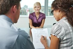 Excellent job interview Stock Photos