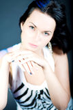 Excellent manicure of young caucasian girl Royalty Free Stock Images