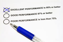 Excellent Performance Royalty Free Stock Images