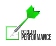 excellent performance check dart illustration Royalty Free Stock Photos