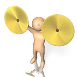 Excellent performance of crash cymbals Royalty Free Stock Photos