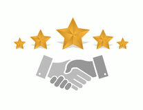 Excellent quality performance handshake concept Royalty Free Stock Images